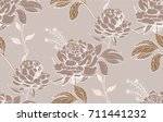 hand drawn seamless pattern... | Shutterstock .eps vector #711441232