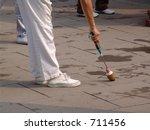 Writing on Sidewalk - stock photo
