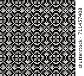 knitted geometric seamless... | Shutterstock .eps vector #711457408
