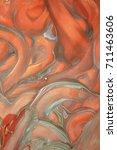 orange gray thick daub | Shutterstock . vector #711463606