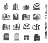 building estate icons set vector | Shutterstock .eps vector #711463852