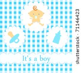 baby arrival card | Shutterstock .eps vector #71146423