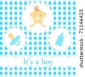 baby arrival card | Shutterstock .eps vector #71146423