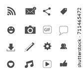social media icons set vector | Shutterstock .eps vector #711465472
