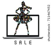 online shopping and sale... | Shutterstock .eps vector #711467452