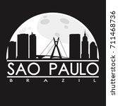 sao paulo full moon night... | Shutterstock .eps vector #711468736