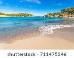 beach scenery of cala s... | Shutterstock . vector #711475246