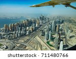 aerial view of dubai from water ... | Shutterstock . vector #711480766