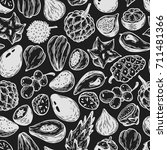 pattern with vector exotic... | Shutterstock .eps vector #711481366