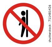 do not lean on door. vector...   Shutterstock .eps vector #711481426