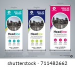 roll up brochure flyer banner... | Shutterstock .eps vector #711482662