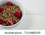 bowl of cereal bran stick and... | Shutterstock . vector #711488245