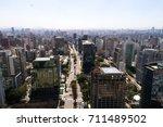 faria lima avenue in sao paulo  ... | Shutterstock . vector #711489502