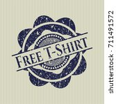 blue free t shirt distressed... | Shutterstock .eps vector #711491572
