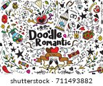 big set of romantic style hand... | Shutterstock .eps vector #711493882