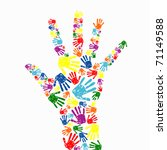 abstract vector hand prints...