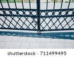 perspective view of monotone... | Shutterstock . vector #711499495