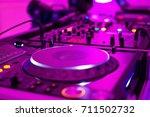 close up photo of pro dj...   Shutterstock . vector #711502732