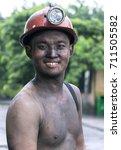 Small photo of MAO KHE, Quang Ninh, Vietnam, September 8, 2017 portrait, miner (name unknown), Mao Khe Coal Company, Quang Ninh province, Vietnam