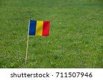 romania flag  romanian flag on... | Shutterstock . vector #711507946