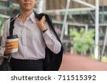 modern business woman with... | Shutterstock . vector #711515392