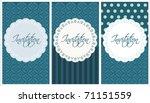 beautiful blue invitation set   Shutterstock .eps vector #71151559
