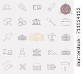 building line icons set | Shutterstock .eps vector #711524152