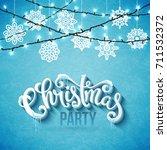 merry christmas poster | Shutterstock .eps vector #711532372
