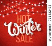 christmas sale poster | Shutterstock .eps vector #711532435
