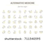 icons in flat  contour  thin... | Shutterstock . vector #711540595