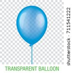 transparent blue vector balloon ... | Shutterstock .eps vector #711541222