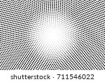 black and white dotted halftone ... | Shutterstock .eps vector #711546022