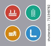 buildings and structures icons... | Shutterstock .eps vector #711548782