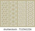 decorative geometric line... | Shutterstock .eps vector #711561226
