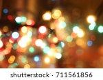 abstract circular bokeh ... | Shutterstock . vector #711561856