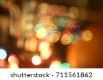 abstract circular bokeh ... | Shutterstock . vector #711561862
