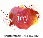 "word ""joy"" on watercolor... 