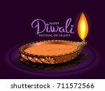 diwali festival greeting... | Shutterstock .eps vector #711572566