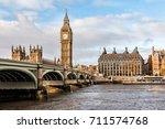 Big Ben  River Thames And...