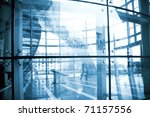 glass hall  modern architecture ... | Shutterstock . vector #71157556
