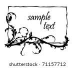floral border | Shutterstock .eps vector #71157712