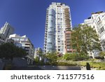 downtown highrise condo... | Shutterstock . vector #711577516