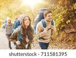 adventure  travel  tourism ... | Shutterstock . vector #711581395