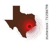 hurricane over texas. vector... | Shutterstock .eps vector #711586798