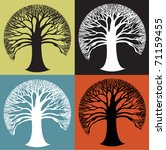 wide round tree icon in stark... | Shutterstock .eps vector #71159455