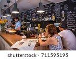 madrid  spain   june 26  2015 ... | Shutterstock . vector #711595195
