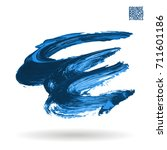 blue brush stroke and texture.... | Shutterstock .eps vector #711601186