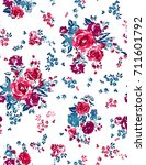 seamless floral pattern in...   Shutterstock .eps vector #711601792