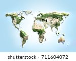 physical world map illustration.... | Shutterstock . vector #711604072