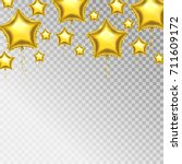 golden balloons. vector star...   Shutterstock .eps vector #711609172